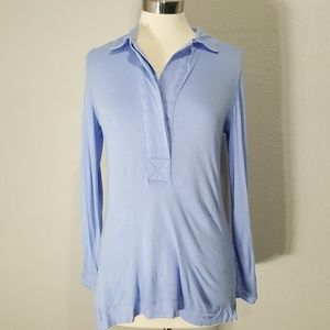 Soft Surroundings Tops - Soft Surroundings Blue Collared Tunic Top